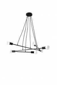 Lampa wisząca ASTRAL 6 czarna marki Sollux Lighting model SL.0617