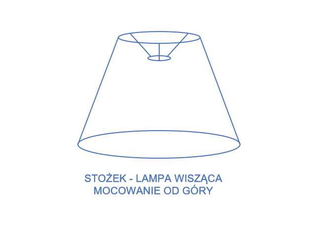 Abażur Stożkowy Ecru 283831 Do Lampy Wiszącej